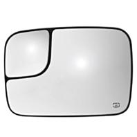 Fits 02 - 05* Ram Pickup Left Heated  2 Piece Flip Up Tow Mirror Glass w/ Holder