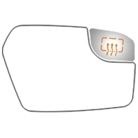 Fits 11-12 Fusion Linc MKZ Right Pass Upper Small Spot Mirror Heated Glass Lens