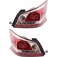 Fits 13-15 NISSAN ALTIMA SEDAN LEFT & RIGHT TAIL LAMP ASSM STAND TYPE W/RED TRIM
