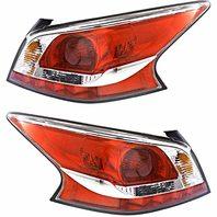 BAP Fits 13-15 Altima Sedan Left & Right Tail LAMP ASSM W/Grey Edge Trim -Set