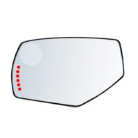 Fits 14-19 Silverado, Sierra Left Driver Mirror Glass Heated. Signal, w/Holder