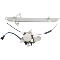 For 01-04 Pathfinder 01-03 QX4 Front Left Driver Window Motor & Regulator With Anti Pinch (6 Pin Connector)