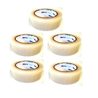 """5 Rolls Molding Tape - All Weather, No Residue - 1.5"""" x 108' Clear, Perforated (6"""")"""