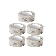 """5 Rolls Molding Tape - All Weather, No Residue - 1.5"""" x 108' Clear 24-Hour, Printed/Perfed. (6"""")"""