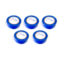 "5 Rolls Molding Tape - All Weather, No residue - 1.5"" x 108' Blue 24-Hour, printed/perfed. (6"")"