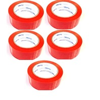 """5 Rolls Auto Glass Tape All Weather, No Residue 2"""" x 108' Orange Perforated (6"""")"""