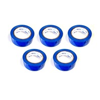 """5 Rolls Molding Tape - All Weather, No Residue- 2"""" x 108' Blue, Perforated (6)"""