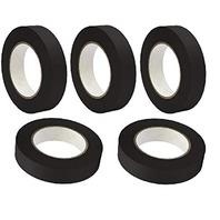 "5 Rolls Marcy No Residue Black Masking Tape 1.5"" x 60 yds (36mm x 180')"
