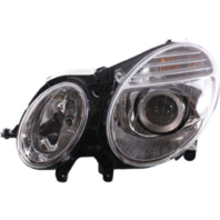 Fits 07-09 MB E-CLASS LEFT DRIVER HALOGEN HEADLAMP ASSM FROM 6/30/06
