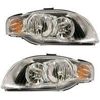 BAP Fits 05-08 A4 Gen 3 Sedan/Wagon 07-09 A4 Conv Left & Right Headlamp - Set