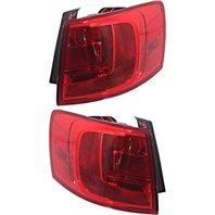 BAP Fits 13-14 VW Jetta Hybrid L & R Set Tail LAMP Quarter Mounted W/O LED Light