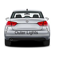 BAP Fits Set Left & Right Tail Lamp Assemblies Outer Quarter Mounted for 12-15 VW Passat