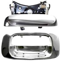 For 99-07* Silverado Sierra  05-09 H2 SUT Tailgate Chrome Handle & Bezel Set