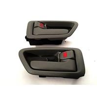 Fits 97-01 Camry Left & Right Interior Door Handles w/Bezel Gray Fits Front & Rear