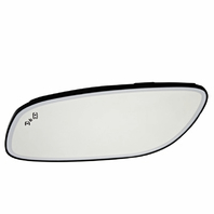 Fits 10-19 Taurus Left Driver Mirror Glass Heated w/Blind Spot Detect & Holder OE