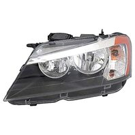Aftermarket Parts Fits 11-14 BMW X3 Right Passenger Halogen Bulb Type Headlight Assembly