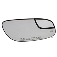 Fits 12-19 Taurus Right Pass Mirror Glass w/ Small Spot, Rear Holder Heated OE