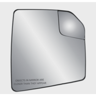 Fits 15-18  F150 Right Pass Mirror Glass w/Heat, Holder w/ Spot Mirror