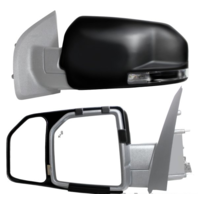 Snap On Towing Mirror Extenders Textured Black for 15-19 F150  Left & Right Set