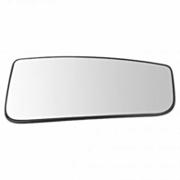 Right Pass Lower Convex Tow Mirror Glass w/ Holder OE for 15-18 Ford F150, 17-19 F250 F350 F450 Heated