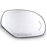 Fits 09-(14) Chevy GMC Trucks Right Pass Mirror Glass Heated w/Signal w/Holder