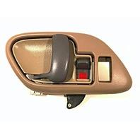 Right Inside Power Door Handle & Bezel Tan Front or Rear Fits GM Trucks, SUV