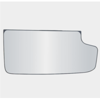 Fits 14-18 Silverado, Sierra Right Pass Lower Tow Mirror Glass w/ Holder