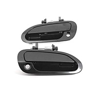 Fits 98-02 Accord Left & Right Front Door Handle Exterior Black