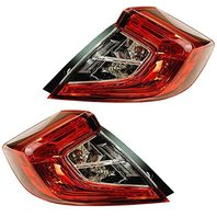 VAM Fits 16-18 Civic Sedan Left & Right Outer Body Qtr Mount Tail Lamp Assembly Set