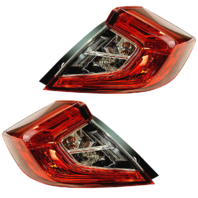 Fits 16-18 Civic Sedan Left & Right Outer Body Qtr Mount Tail Lamp Assembly Set