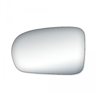 Fits 01-05 Civic Coupe, Sedan Left Driver Mirror Glass Lens w/ Adhesive