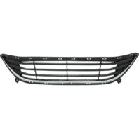 For 11-13 Elantra Front Bumper Grille Textured Black with Chrome Trim Lower Center for Korean Built Models