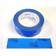 """1 Roll Auto Glass Securing Tape 1.5"""" x 108' Blue 24HR Message, Perforated"""
