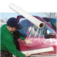 "Window Guard™ Collision Wrap Durable see-thru Self-adhering 36"" x 60' - perforated every 36"""