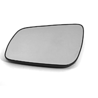 Fits 08-14  Lancer Left Driver Heated Mirror Glass w/Rear Holder