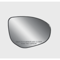 Fits 11-14 Mazda 2, 10-13 Mazda 3 Right Pass Heated Mirror Glass w/ Back Plate