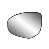 Fits 11-14 Mazda 2, 10-13 Mazda 3 Left Driver Heated Mirror Glass w/ Back Plate