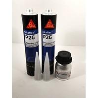 Auto Glass Urethane, Adhesive, Sealant Primerless 2 Tubes Sika P2G & Primer