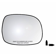 Fits 00-06 Tundra, 01-07 Sequoia Right Pass Heated Mirror Glass w/Rear Holder
