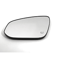 Fits 14-18 Toy Highlander Left Driver Mirror Glass w/Holder Heated