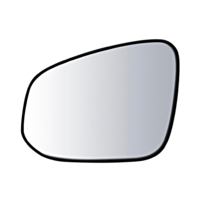Fits 13-15 Toy Rav4 Left Driver Mirror Glass w/ Holder Canada Built Models