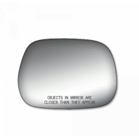 Fits Camry Right Pass Mirror Glass Lens w/Blindspot Detection Icon