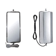"""BAP Set West Coast Truck Mirror Heads Stainless Steel Left & Right Heated 7"""" x 16"""""""
