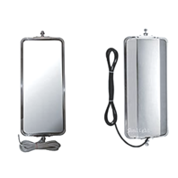 """Fits West Coast Truck Mirror Head Stainless Steel Left & Right Heated  7"""" x 16"""""""
