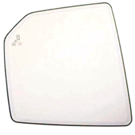 Fits 15-20 F150 Mirror Glass w/Holder Heated w/out Auto Dim w/Blind Spot Detect Left Driver