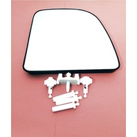 Right Heated Upper Mirror Glass w/Holder OEM 99-07 Super Duty Excursion 02-14Van