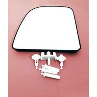 Left Upper Heated Mirror Glass w/Holder OEM 99-07 Super Duty Excursion 02-14Van