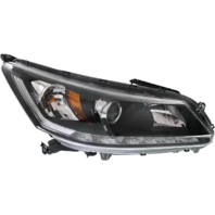 Fits 13-15 Ho Accord Sedan Right Pass Halogen Headlamp Assm w/ LED Running Light