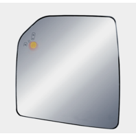 Left Driver Mirror Glass w/ Holder for 15-20 F150 Heated w/ Blind Spot Detection