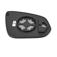 Fits 10-14 HighlanderLeft Driver Mirror Glass w/Holder Heated* Built in USA